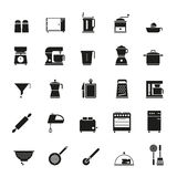 Cooking and Kitchen Solid Vector Icon Collection Royalty Free Stock Images