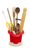 Cooking or kitchen utensils Stock Images