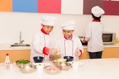 Cooking in the kitchen Royalty Free Stock Image