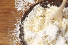 Cooking: kneading dough Stock Photos
