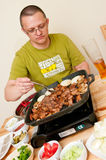 Cooking Korean Food Royalty Free Stock Photos