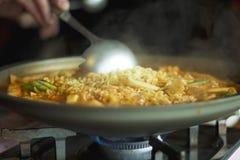 Cooking Korean Soup Stock Photos