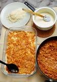 Cooking lasagna at home Stock Photo