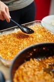 Cooking lasagna at home Royalty Free Stock Photography
