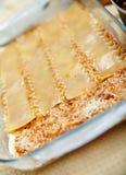 Cooking lasagna at home Stock Image