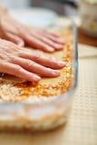Cooking lasagna at home Royalty Free Stock Photo