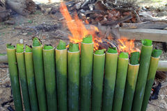 Cooking Lemang Stock Images