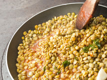 Cooking Lentils Royalty Free Stock Photography