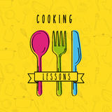 Cooking lessons flat Royalty Free Stock Photography
