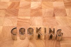 Cooking letters stock photo