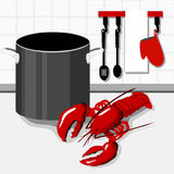 Cooking Lobster Royalty Free Stock Photography