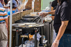 Cooking at the Local Colors Festival Stock Photos