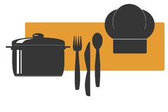 Cooking logo royalty free stock photography