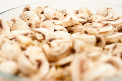 Cooking with lots of mushrooms Stock Photo