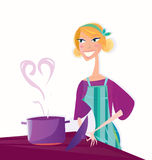 Cooking with love stock illustration