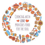 Cooking with LOVE provides food for the soul Royalty Free Stock Photo