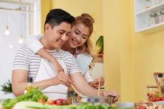 Cooking with love Stock Images