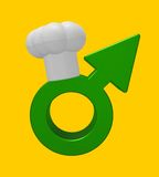Cooking male symbol Royalty Free Stock Photography