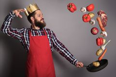 Cooking man concept Royalty Free Stock Image