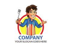 Cooking Man Logo Royalty Free Stock Photos