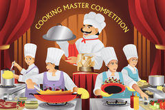 Cooking master competition. A vector illustration of cooking master competition Stock Image