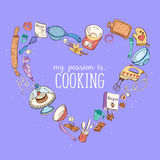 Cooking is may passion poster Stock Photos