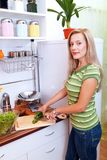 Cooking a meal Royalty Free Stock Image