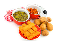 Cooking daily meal Royalty Free Stock Image