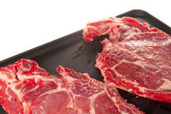 Cooking meat. On the grill Stock Image