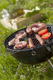 Cooking meat on the barbecue Royalty Free Stock Photos