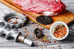 Cooking meat dish Stock Image