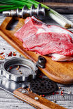 Cooking meat dish Stock Photography