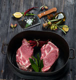 Cooking meat Royalty Free Stock Photos