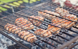 Cooking meat Royalty Free Stock Images