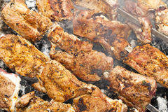 Cooking meat Photo Royalty Free Stock Images