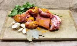 Cooking meat Royalty Free Stock Photography