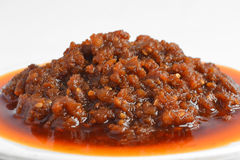 Cooking meat sauce. With white background Stock Images