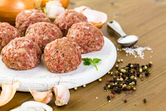 Cooking meatballs Royalty Free Stock Photos