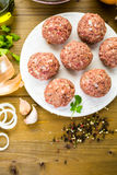 Cooking meatballs Stock Photography