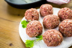 Cooking meatballs Royalty Free Stock Image