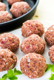 Cooking meatballs Stock Image