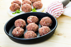 Cooking meatballs Royalty Free Stock Images