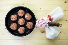 Cooking meatballs Stock Photos