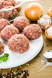 Cooking meatballs Royalty Free Stock Photo