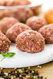 Cooking meatballs Stock Photo
