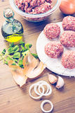 Cooking meatballs Royalty Free Stock Photography