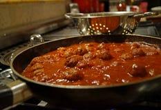 Italian Meatballs in Tomato Sauce Stock Photography