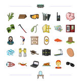 Cooking, medicine, ecology and other web icon in cartoon style. and other web icon in cartoon style. icons in set Royalty Free Stock Image