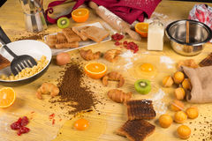 Cooking mess Royalty Free Stock Image
