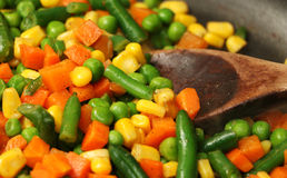 Cooking Mixed Vegetables Royalty Free Stock Images